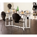 Duncan Weathered Gray Modern Drop Leaf Dining Table