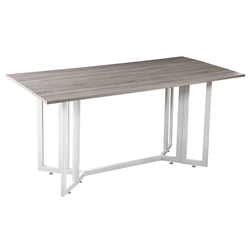 Duncan Weathered Gray Modern Drop Leaf Table