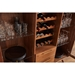 Denali Modern Bar Display Cabinet with Wine Rack