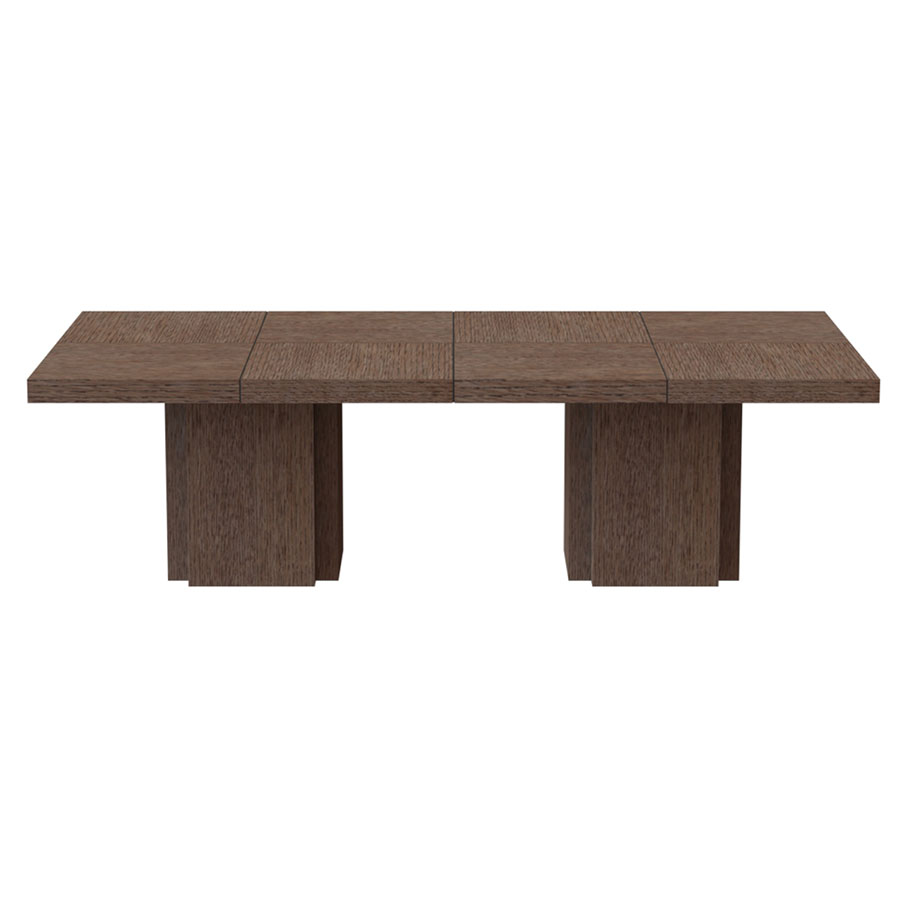 "Dusk 102"" Chocolate Rectangle Minimalist Modern Dining + Conference + Work Table"