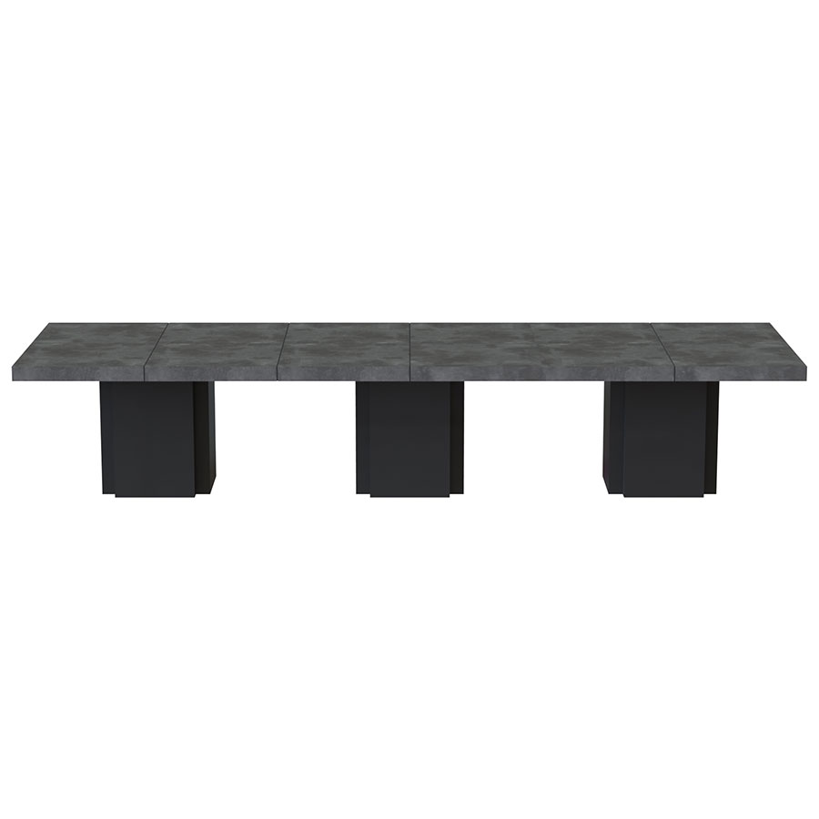 "Dusk 153"" Concrete Finish Top Modern Minimalist Dining Table"