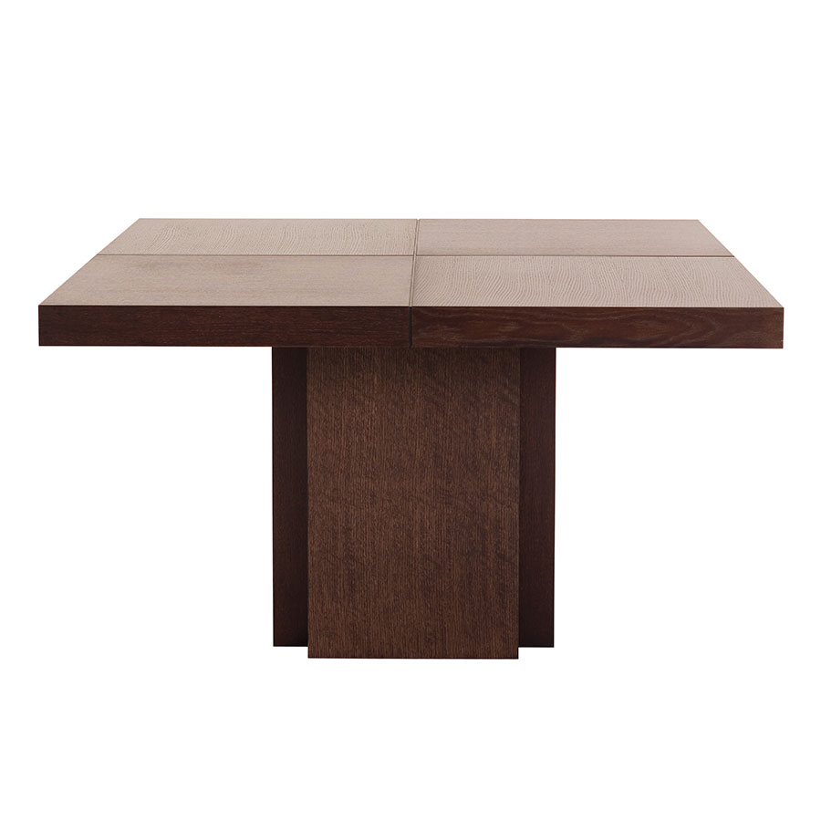 "Dusk 51"" Chocolate Square Modern Dining + Work Table"