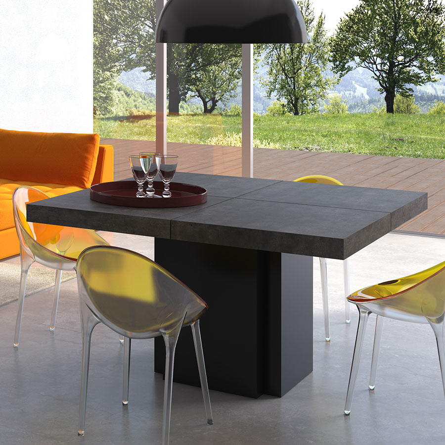 """Dusk 51"""" Concrete Modern Dining Table By TemaHome"""
