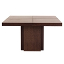 "Dusk 59"" Square Chocolate Finish Modern Dining + Work Table by TemaHome"