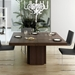"Dusk 59"" Square Chocolate Finish Contemporary Dining + Work Table"