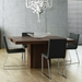 "Dusk 59"" Square Chocolate Finish Contemporary Dining Table"