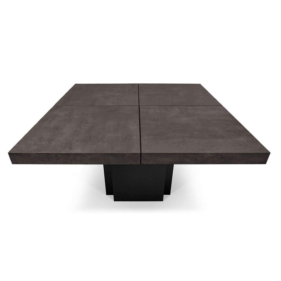 "Dusk 59"" Concrete Top Square Modern Dining + Work Table"
