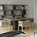 "Dusk 59"" Concrete Top Square Modern Minimalist Dining + Work Table"