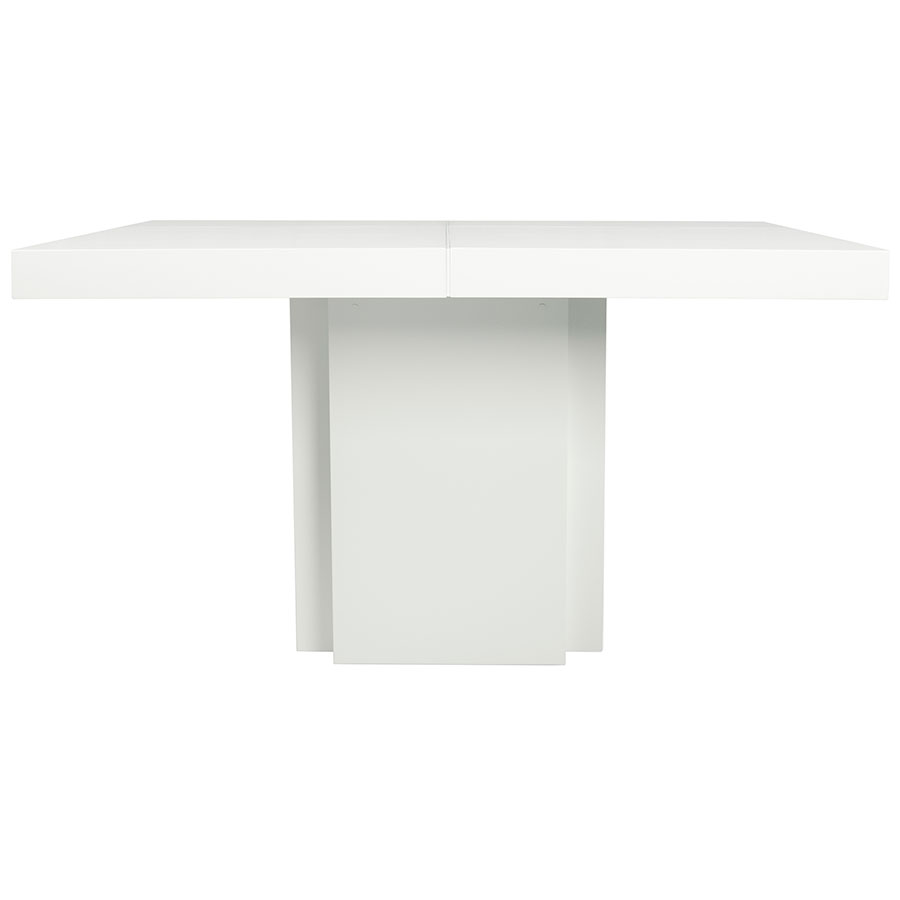 "Dusk 59"" White Contemporary Dining Table Front"
