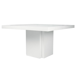 "Dusk 59"" White Contemporary Dining Table"