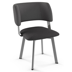 Easton Modern Dining Chair by Amisco in Magnetite + Nightfall