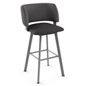 Easton Modern Bar Stool by Amisco in Magnetite + Nightfall