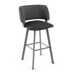 Easton Modern Counter Stool by Amisco in Magnetite + Nightfall
