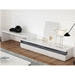 Eastwood White Lacquer + Glass Contemporary Adjustable Entertainment Center