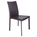 Ebba Modern Brown Stacking Side Chair by Euro Style