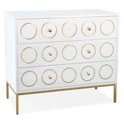 Eberley Modern White + Gold Chest