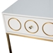 Eberley Modern White + Gold Night Table
