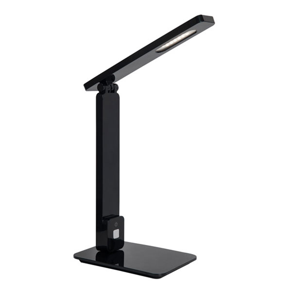 Eckert Modern Black LED Desk Lamp with USB Port