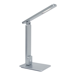 Eckert Modern Silver LED Desk Lamp with USB Port