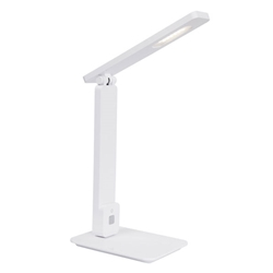 Eckert Modern White LED Desk Lamp with USB Port