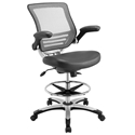 Ede Modern Gray Drafting Stool