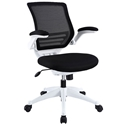 Ede Modern Fabric Office Chair in Black and White