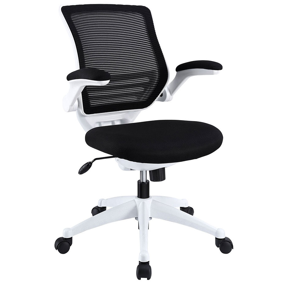 Black and white office chair - Ede Modern Fabric Office Chair In Black And White