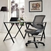 Ede Gray Leatherette + Mesh Modern Ergonomic Office Chair - Lifestyle