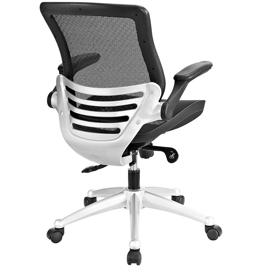 Office chair back view -  Ede Modern Black Mesh Office Chair Back View