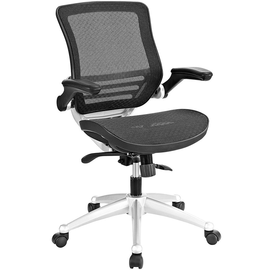 Black and white office chair - Ede Modern Black Mesh Office Chair
