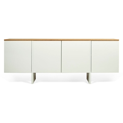 Edge Oak Top + White Body Modern Sideboard
