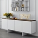 Edge Walnut Top + White Body Contemporary Sideboard