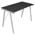 Edie Modern Black Glass Top Desk