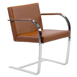 Edison Chocolate Classic Modern Leather Arm Chair