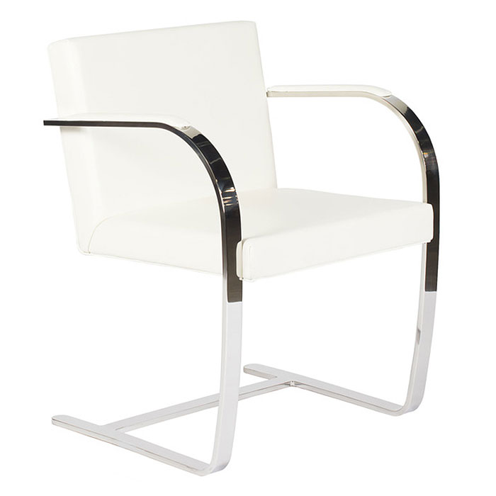 Call To Order · Edison White Classic Modern Armchair