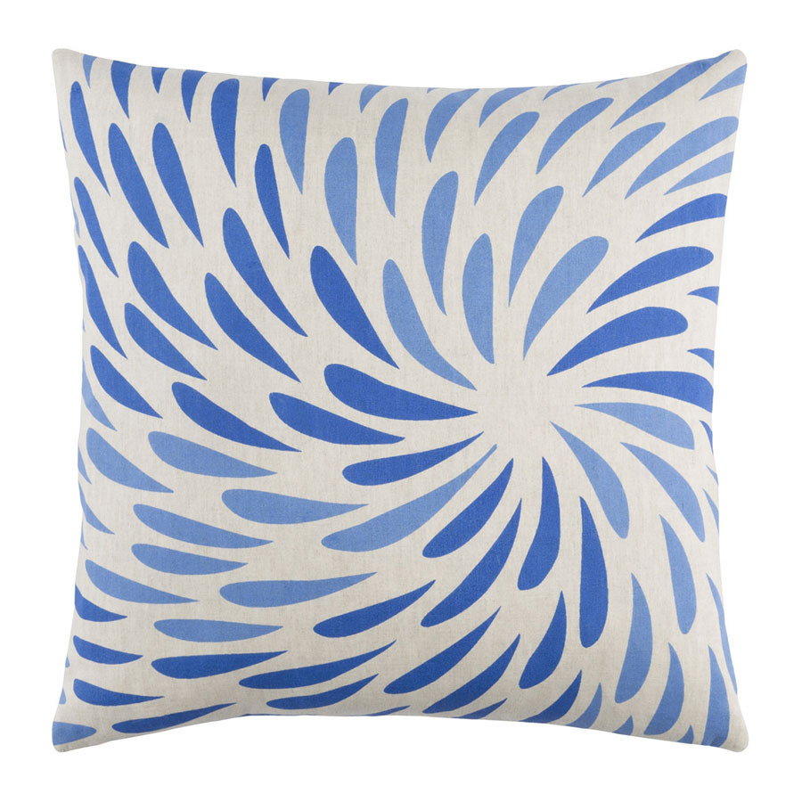 "Edith 18"" Blue Modern Pillow"