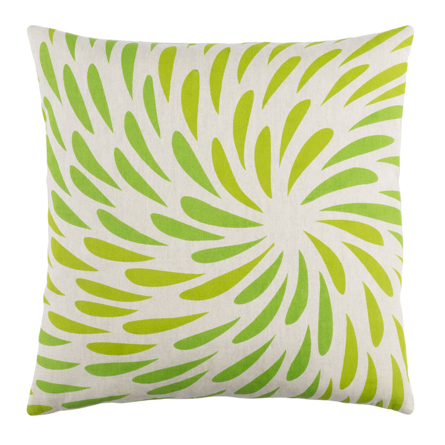 "Edith 18"" Green Modern Pillow"