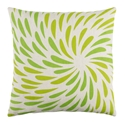 "Edith 22"" Green Modern Pillow"