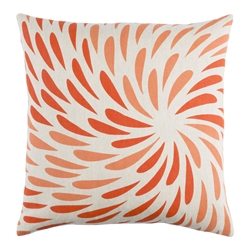 "Edith 22"" Orange Modern Pillow"