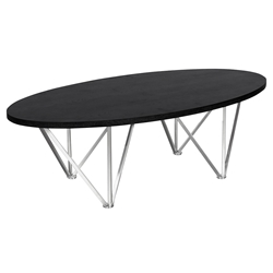 Eduardo Modern Oval Coffee Table