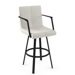 Edward Modern Counter Stool by Amisco in Black Coral + Grigio