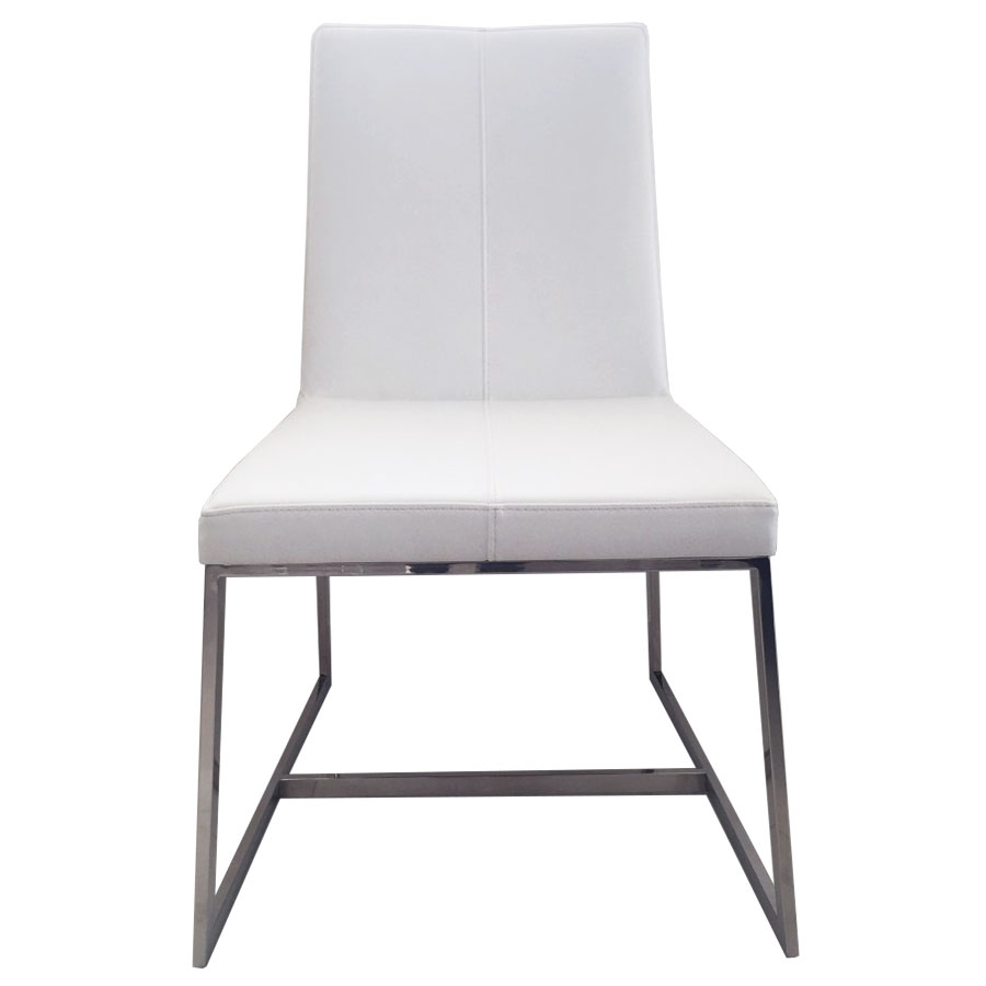 Egbert White Contemporary Dining Chair Front