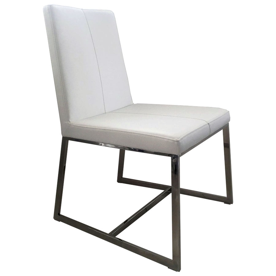 Egbert White Contemporary Dining Chair