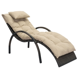 Egon Synthetic Weave + Sunproof Fabric Modern Outdoor Chaise Lounge