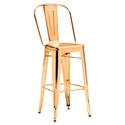 Elea Gold Contemporary Bar Stool