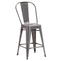 Elio Gun Metal Modern Counter Stool