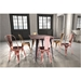 Elea Rose Gold Modern Bistro Style Dining Chair