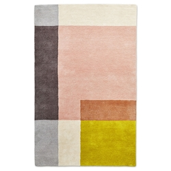 Gus Modern Element 4x6 Rose Rug
