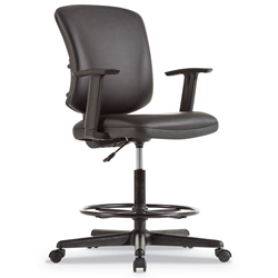 Elevate Modern Black Leatherette Office Stool