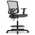 Elevate Modern Black Mesh Office Stool